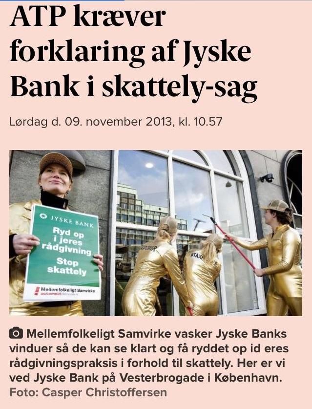 Måske ATP  ikke har hørt at jyske bank stadig ikke har styr  på dansk lovgivning   tænker mest på straffeloven