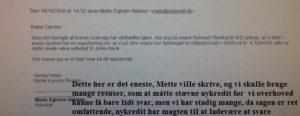 Nykredit skriver 18-10-2016 efter vi måtte stævne Nykredit for at svarer os på om vi har lånt 4.328.000 kr. i Nykredit Nykredit kender til sagen mod Jyske bank og ville først ikke svare