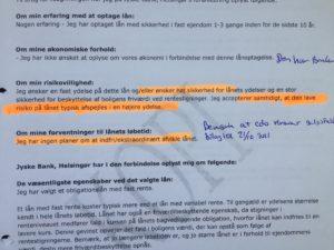 Hvad betyder risikoprofil og Høj sikkerhed Lav risiko Jyske bank går direkte i mod kunden