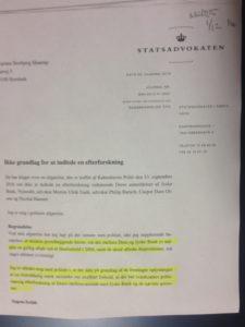 Statsadvokaten nægter at efterforske jyske bank for bedrageri Politiet har modtaget bilag der viser, at intet lån findes, og at jyske bank har lavet dokumentfalsk I mellemtiden er Anders Dam oplyst og inddraget