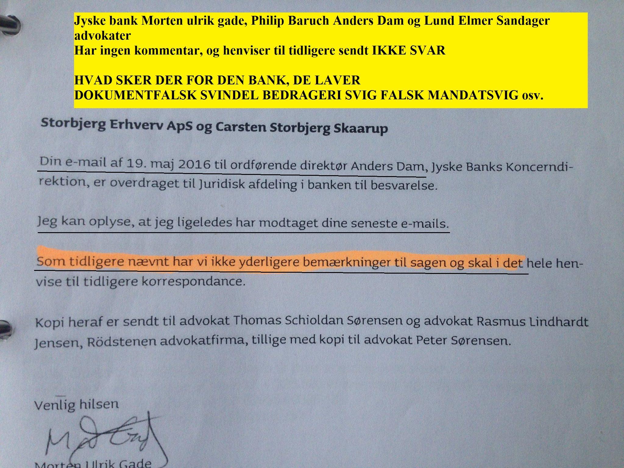 PENGEGRIS.DK. Jyske bank lavede 3 dobbelt mandatsvig mod lille kunde, for ar ved dokumentfalsk ...