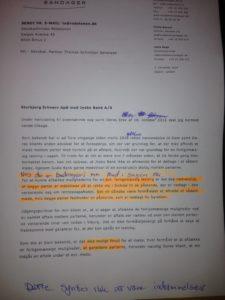 NEJ SAGEN HANDLER 2 november 2016 ikke om dårlig rådning dette glemte advokaten vist at oplyse jyske bank men se da mails fra maj 2016 der findes ikke noget lån BASTA DER ER SVIG