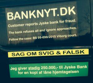 Jyske bank laver svig og falsk